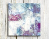 Abstract art print on canvas - purple and blue abstract art print - housewarming gift