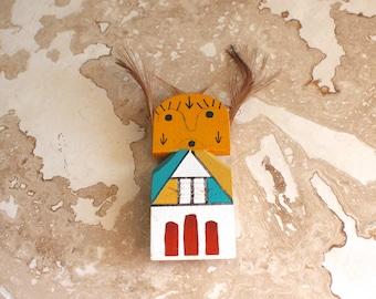 Kachina doll - Puch'tihu kachina - miniature kachina doll magnet - hand painted kachina - Arizona Puch Tihu kachina - southwest decor