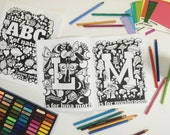 The ABC's of Nature Coloring Book - Hand Designed Alphabet Coloring Book - For Children and Adults