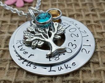 Duo Family Keepsake Necklace, Childrens Keepsake Jewellery, Anniversary Keepsake