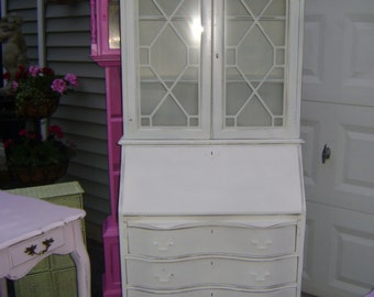 vintage  cottage chic secretary