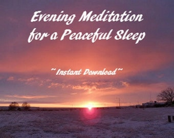Guided Meditation ~ Evening Meditation Guided by Voices ~ Self Improvement Meditation Tool ~ Mp3 Player Instant Download ~ 2016 Trends