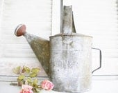 Vintage Metal Watering Can With Nozzle Galvanized Can Dover Rusty Primitive For Home Decor Garden Wedding Collectable