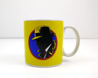 Vintage Dick Tracy Mug / Numbered mug from 1990 Warren Beatty movie.