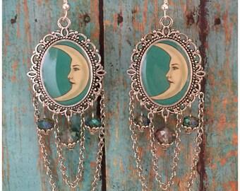 Loteria La Luna Mexican Bingo Earrings