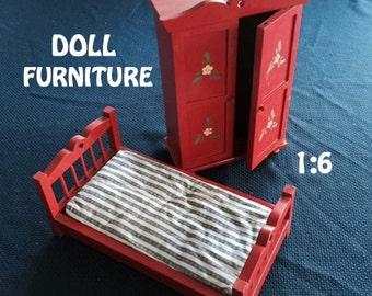 Handmade DOLL FURNITURE Bedroom Set (3)