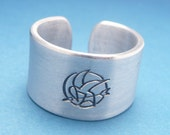CLEARANCE - SALE - Bird Stamp - A Hand Stamped Aluminum Ring