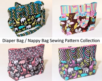 Diaper Bags / Nappy Bags Downloadable Sewing Pattern Collection