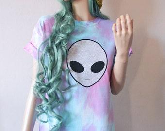 Pastel Alien Tie Dye T-Shirt