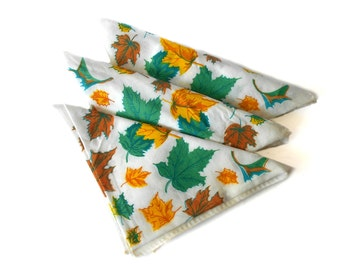 Vintage Handkerchiefs Autumn Maple Leaf Handkerchiefs