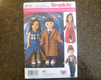 """Simplicity 8111: Doctor Who inspired 18"""" Doll pattern"""