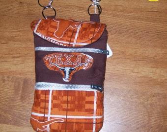Cell phone wallet purse bag w/ adjustable shoulder strap Longhones 6 x 4.5