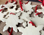 Small White Snowflake Ornaments
