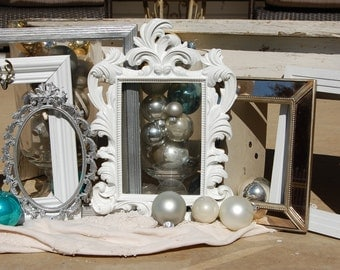 Shabby Chic Decor - Frames - Picture Frames - Ornate Upcycled Frame Set - Wall Frames