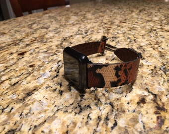 Exotic leather handmade iwatch bands
