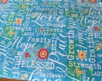 NEW Faithfully Yours Fabric by Barb Tourtillotte for Clothworks 1 yard
