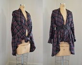 Cardigan sweater in Cotton Flannel | Flannel Shirt | Maxi coat | Maxi Sweater | Winter outerwear | Robe | Nursing Top | Free Size Clothing