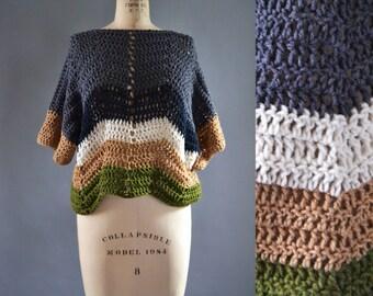 Chunky Knit Sweater for Women | The 'Freerange' Mountain View Sweater | Winter Sweater | Sweater Tunic | Folk Art | Knitwear | Outerwear