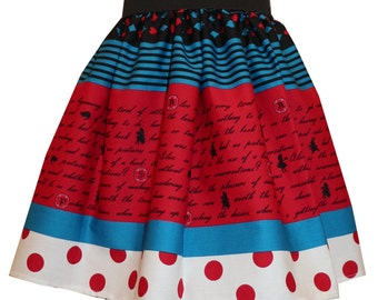 Lolita Blue & Red Alice Story Skirt
