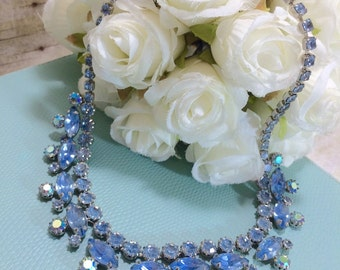 Weiss estate Blue Crystal Necklace