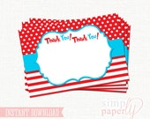 Custom Dr Seuss Round Thank You Labels