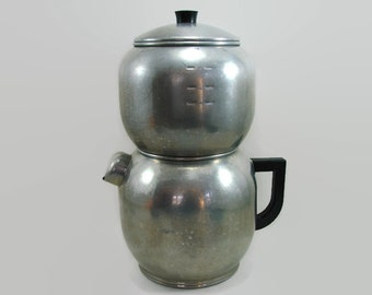 West Bend Kwik Drip Coffee Maker, Aluminum Coffee Pot, 18 Cup Coffee Urn, Party Beverage Server, Metal Tea Pot