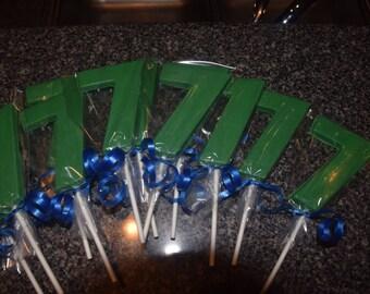 One Dozen Chocolate Number Seven Lollipops