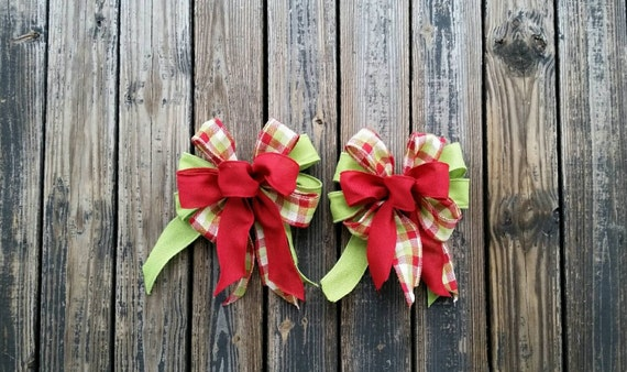 Christmas Bows, Set of Two Large Christmas Bows