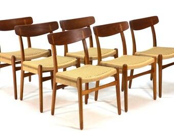 Set of Six Hans Wegner CH-23 Dining Chairs