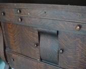 Antique Oak Sideboard W/Mirror