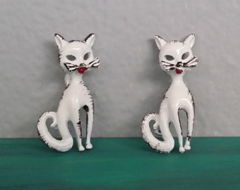 Pair of Cat Pins/Brooches