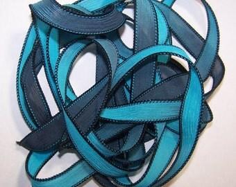Sassy Silks Hand Painted Silk Ribbons Caribbean