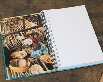 """Upcycled Notebook Tartuensis College """"Around the World"""", Travel Journal"""