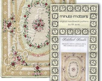 Dollhouse Carpet Pattern For Needlepoint or Cross Stitch - Robillard Ramble by Elli Jenks