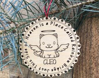Pet Memorial Ornament Rustic Pet Loss Ornament Rustic Pet Memory Ornament Dog Memorial Ornament Cat Memorial Ornament Pet Loss Gift Personal