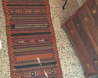 Vintage large long kilim rug runner