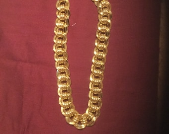 Vintage Monet Gold Tone Necklace