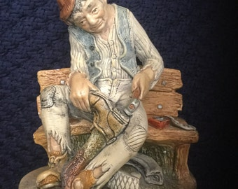 Vintage Naturecraft Figurine Shoe Mender No. 805