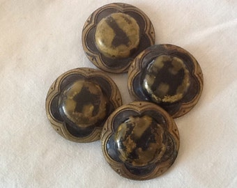 4 Large Vintage Buttons