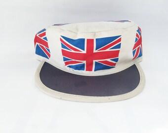 Union Jack Painter's Cap Elastic-back Hat Deadstock 1980s