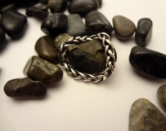 Chain linked ring, sterling silver, stacking, stackable, flexible
