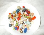 Bead soup Multi-colored mix bag Glass Beads Assorted Sizes destash lot Bead Soup Craft Supplies
