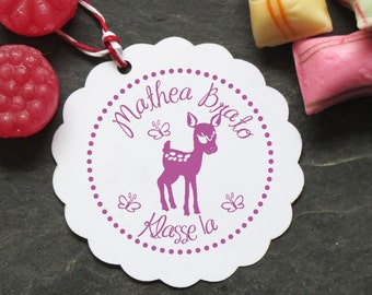 Stamp deer Bambi with your name 40mm