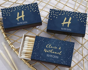 Personalized Wedding Favors, Black and White Wedding Favors, Gold and White Wedding Favors, Bridal Shower Favors