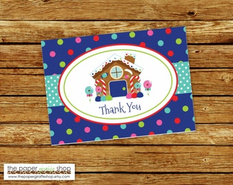 Gingerbread House Thank You Card | Gingerbread Cookies Thank You Card | Gingerbread House Thank you | Note Card