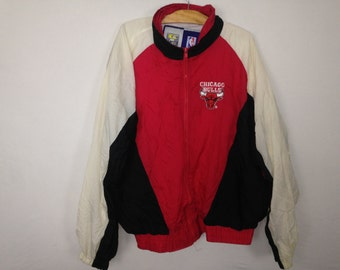 90s chicago bulls windbreaker jacket size L