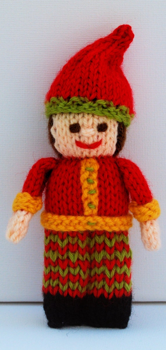 Knitting Patterns Christmas Toys : Christmas Elf, Christmtas Doll, Toy Knitting Pattern, Christmas Decoration, C...