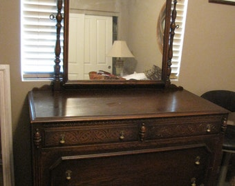 Antique Landstrom Oak Dresser