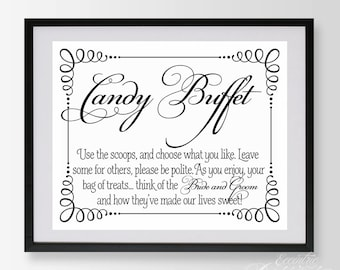 Dynamic image pertaining to free printable candy buffet signs