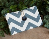 Gray Chevron Cash Envelope Wallet for Dave Ramsey Budget Great Christmas Gift
